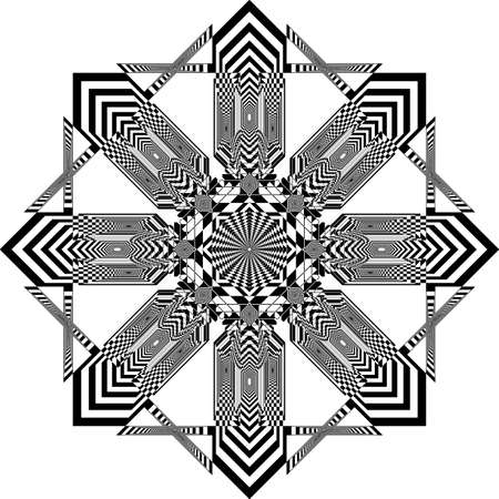Eight corners crross ruuf modern church inspired strukture abstract cut art deco illustration on transparent background