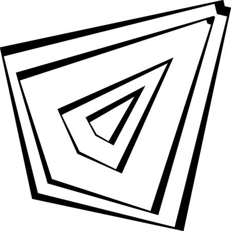 Deta wing second impression inspired strukture abstract cut art deco illustration on transparent background