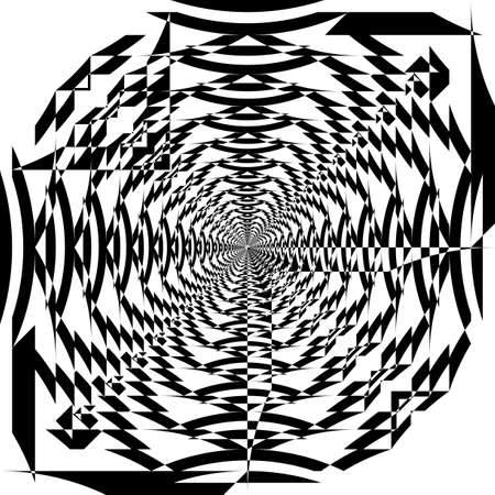 Asymetrivcal vortex of shapesl illusion arabesque satelite inspired strukture abstract cut art deco illustration on transparent background