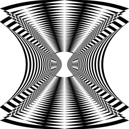 Tunel spider net illusion arabesque satelite  inspired strukture abstract cut art deco illustration on transparent background