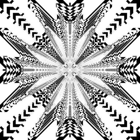 Square plaid futuristic urban cityscape like spider net illusion arabesque satelite  inspired strukture abstract cut art deco illustration on transparent background