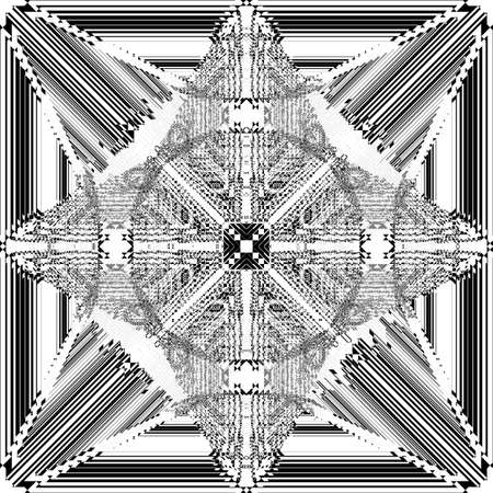 Square plaid imperial like arrows illusion arabesque satelite  inspired strukture abstract cut art deco illustration on transparent background