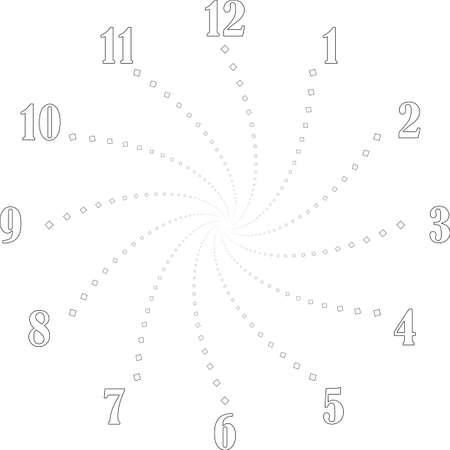clock dial big void numbers black vid diamond swir signs pointing negative space for seconds on transparent background