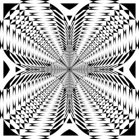 reversed circle into squareblack on transparent perspective on transparent background from corner to corner Archivio Fotografico - 130165514