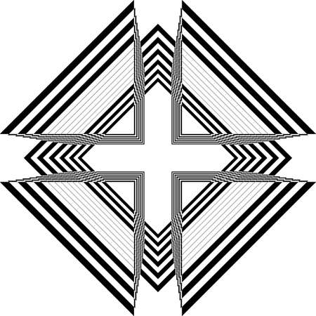 abstract arabesque church ceiling black on transparent background designer cut