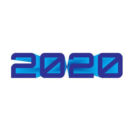 2020 year number blue ON transparent BACKGROUND designer cut