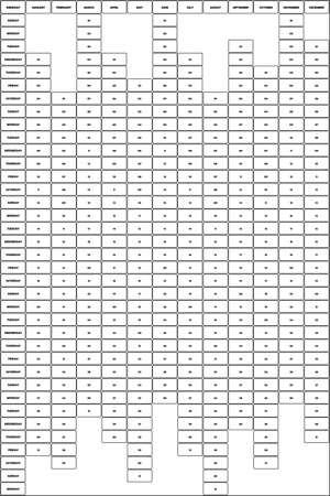 2020 Planer calendar PORTRAIT format black on transparent background rounded corners STICKY NOTES