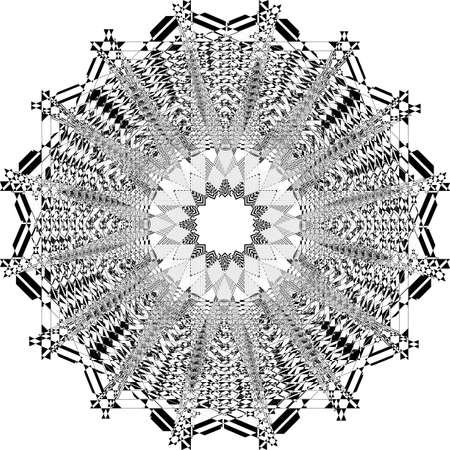 abstract arabesque double octogon structurated church ceiling black on transparent background designer cut