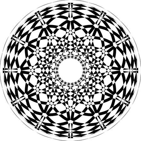 Abstract Arabesque Fountain Fan Not Spinning Perspective Negative Space Design black on transparent background Illustration