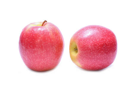 lady: Pink Lady apples Stock Photo