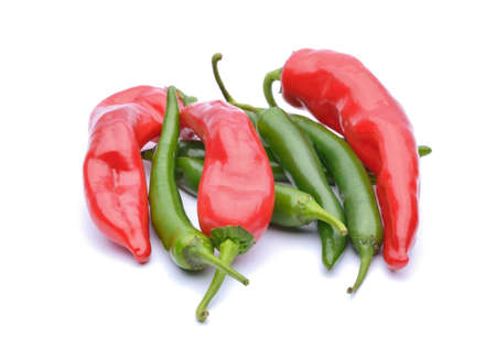 red peppers: Red peppers and chili peppers Stock Photo