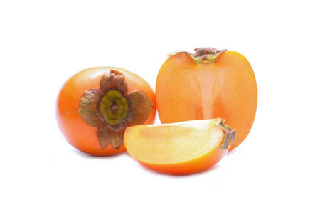 tacky: Persimmon fruit isolated on white background