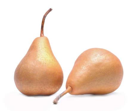 kaiser: kaiser pears isolated on white background