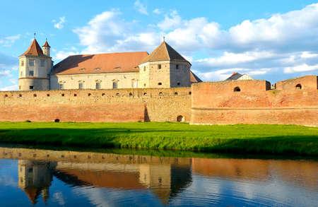 Fagaras Fortress in Brasov County, Transylvania, Romania Reklamní fotografie - 60669632
