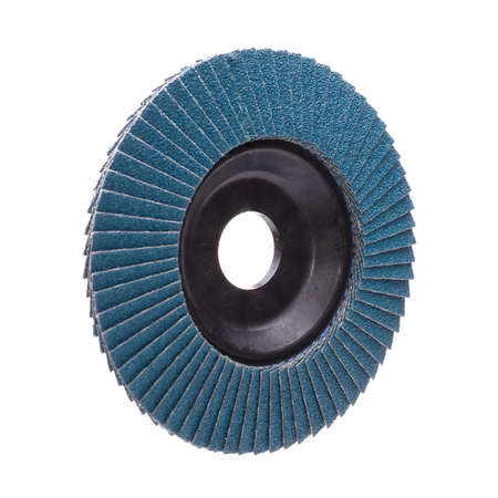 abrasive: Abrasive wheel isolated on white background