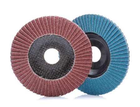 abrasive: Abrasive wheels isolated on white background
