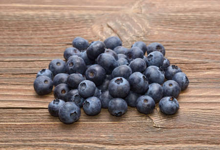 Blueberry on wooden table