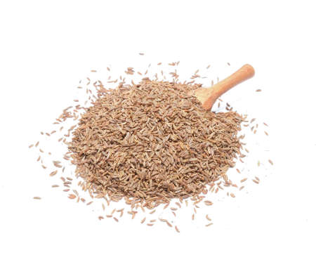 caraway: Caraway Seeds Isolated on White Background