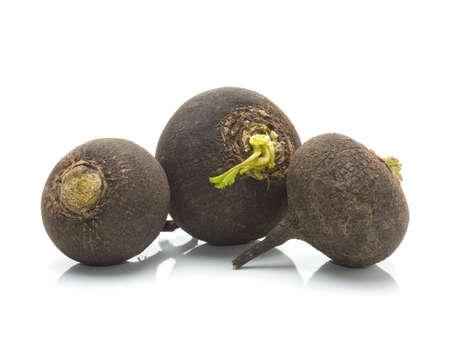 rutabaga: black radish isolated on white background