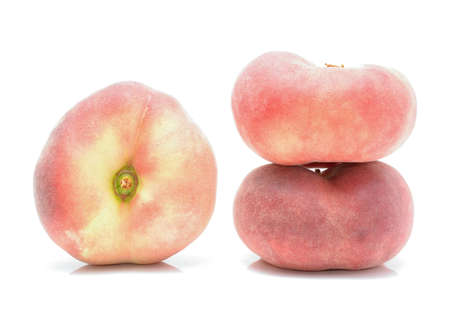 velvety: donut peaches isolated on white background