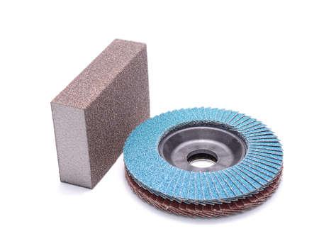 abrasive: Abrasive wheel isolated on white background