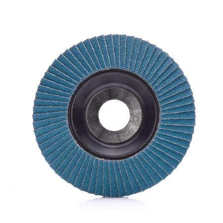 Abrasive wheel isolated on white background