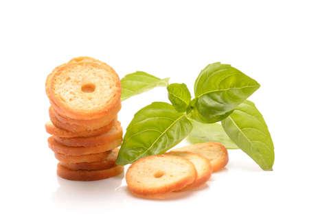 The mini bread chips