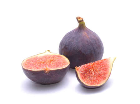 fresh figs isolated on white background Banco de Imagens