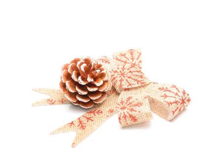 Pine cone christmas decoration on a white background Reklamní fotografie