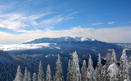 Winter landscape in Bucegi Mountains, Romania Standard-Bild - 118557707