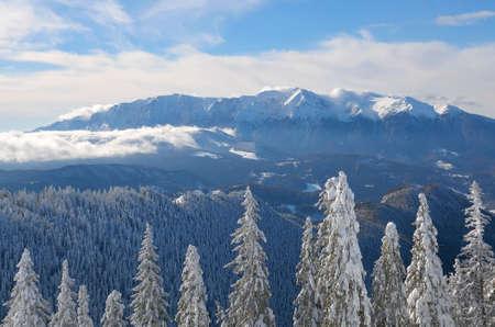 Winter landscape in Bucegi Mountains, Romania