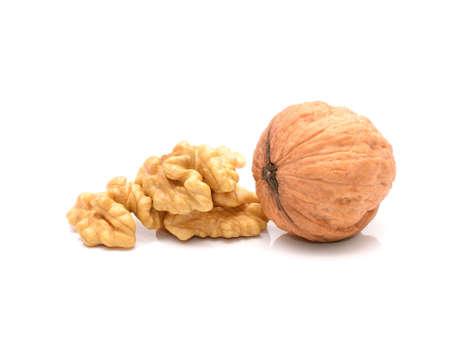 Fresh walnuts isolated on white