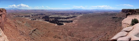 panorama arielview over Canyonland in Utah