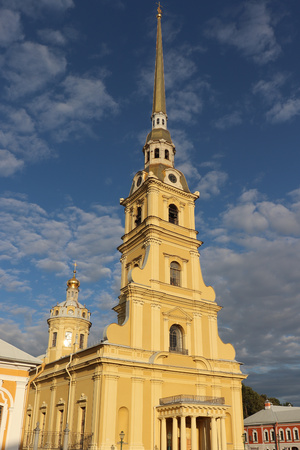 Peter and Paul fortress side view in St. Petersburg, Russia.