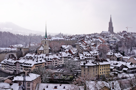 Old town of Bern by day. Banque d'images