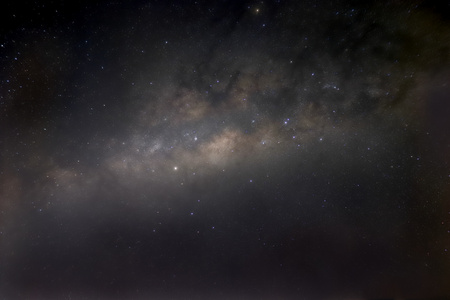 Plain Milky Way with galactic center. 写真素材