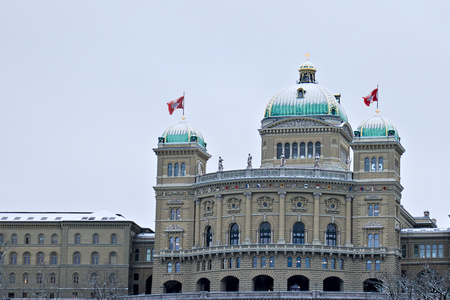 Parliament building (Bundeshaus) in Bern front view. 写真素材
