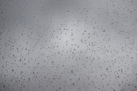 Water drops on glass surface.