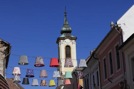 Szentendre blagovestenska church at the main square 写真素材