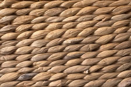 Texture of brown beige rattan. 写真素材