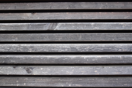 Texture of grey weathered wood planks with gaps. 写真素材