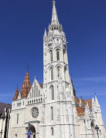 BUDAPEST, HUNGARY - April 16, 2019: Matthias Church is a Roman Catholic church, in the Budas Castle District, Budapest Hungary