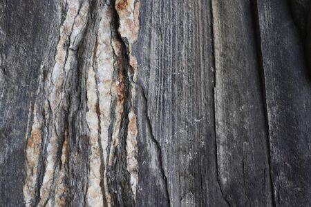 Quatz veins in rock seen close up.