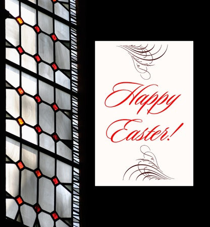 modern easter Greetings Postcard. A great mix of photography with text - ready to bes sent to you relatives, friends or business partners. photo