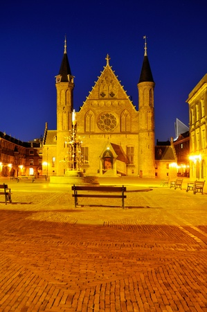 Ridderzaal Gothic castle in The hague, Netherlands. Useful file for your brochure about Dutch parliament and travel brochure. photo
