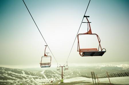 ski lift: Cable car Stock Photo