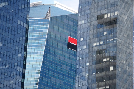 headquarter: Paris, France - July 14, 2011: The Societe Generale logo on headquarter buildings.