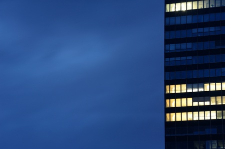 Modern office building in dusk. Useful file for your business site, annual report or other electronic or printed media. Stock Photo - 11116948
