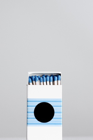 Safety matches isolated on gray wuth a dedicated space for logo of your company. Stock Photo - 12251321
