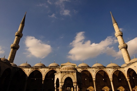 Beautiful toned image of Sultan Ahmed Mosque in Istanbul, Turkey. Useful file for your guide about Istanbul and Turkey culture. photo